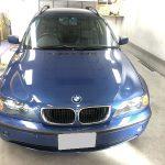 富士吉田市よりルーフペイント劣化の塗装事例(BMW 3シリーズ)